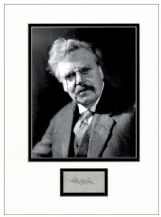 G K Chesterton Autograph Signed Display - Father Brown